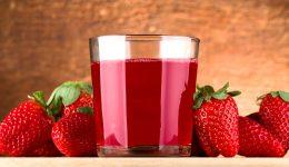 Suco de morango com leite